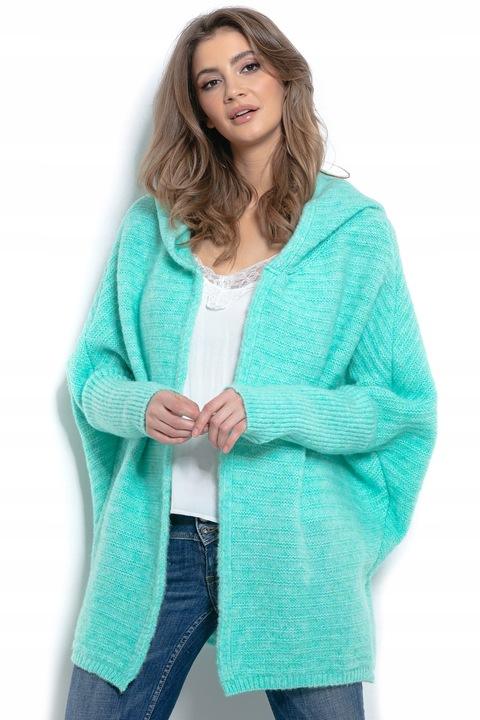 Luźny piękny miły kardigan płaszczyk z kapturem 9289456414 Odzież Damska Swetry DB AJSRDB-9