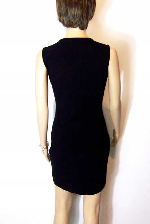 sukienka mała czarna zdobiona kryształkami 36/38 9442339788 Odzież Damska Sukienki wieczorowe YL NAVWYL-1