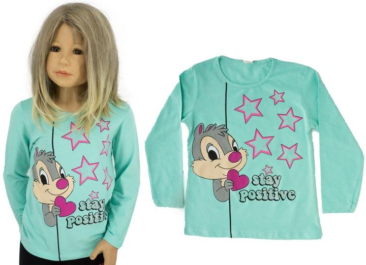 Bawełniana bluzka P0215 rozmiar 134 9630523870 Dziecięce Odzież PV SVZPPV-8