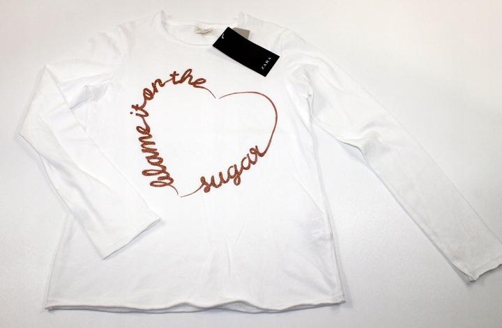 ZARA bluzka bluzeczka SERCE 164 cm 13-14 lat 9578201272 Dziecięce Odzież DA JWWRDA-5