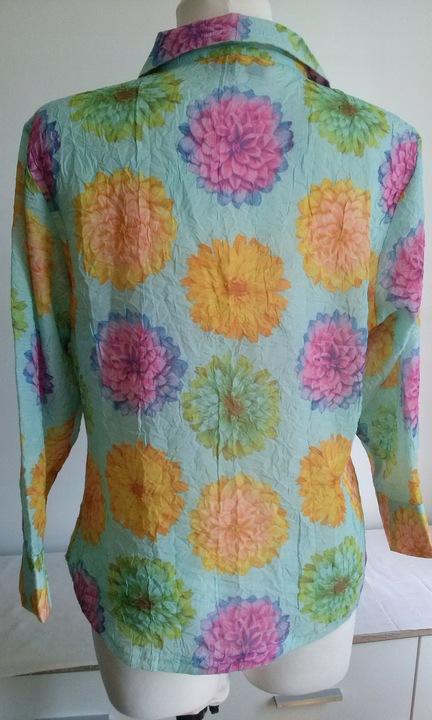 Bluzeczka LADIES rozm.44,kwiaty, 100%poliester 9555570874 Odzież Damska Bluzki LT XPCLLT-3