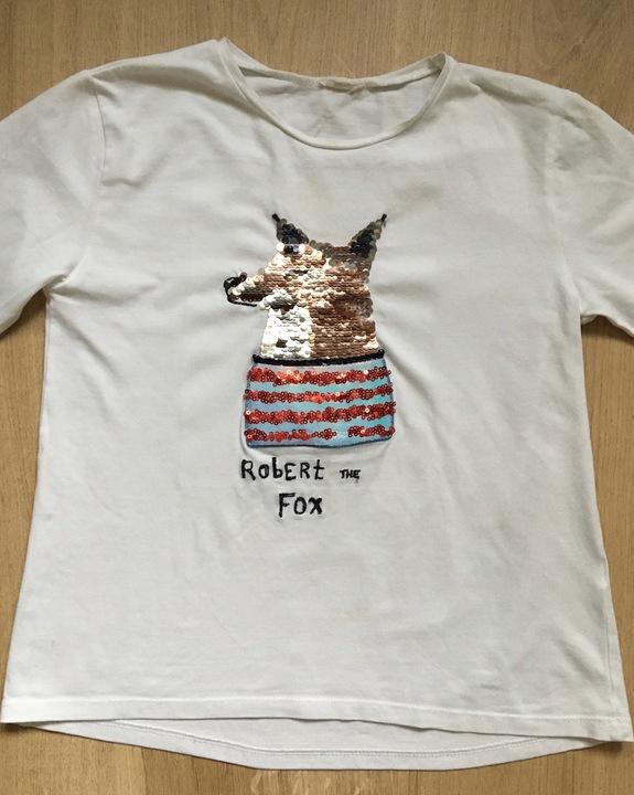 Zara bluzeczka zmieniające cekiny r. 134/140 cm 9386887933 Dziecięce Odzież SQ VSINSQ-4