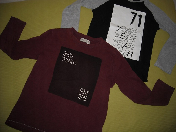 Zara bluzka z dł. rękawami r.128 9793705078 Dziecięce Odzież HZ PUINHZ-8