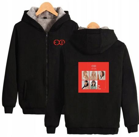 Warm blouse with EXID Hood 2019 XL 42 9658459332 Odzież Damska Topy KD UYXNKD-8