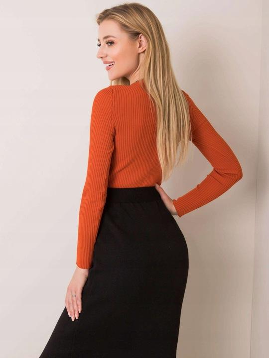 Delikatny Rozpinany SWETER damski klasyczny 9791201386 Odzież Damska Swetry IS VOWRIS-9