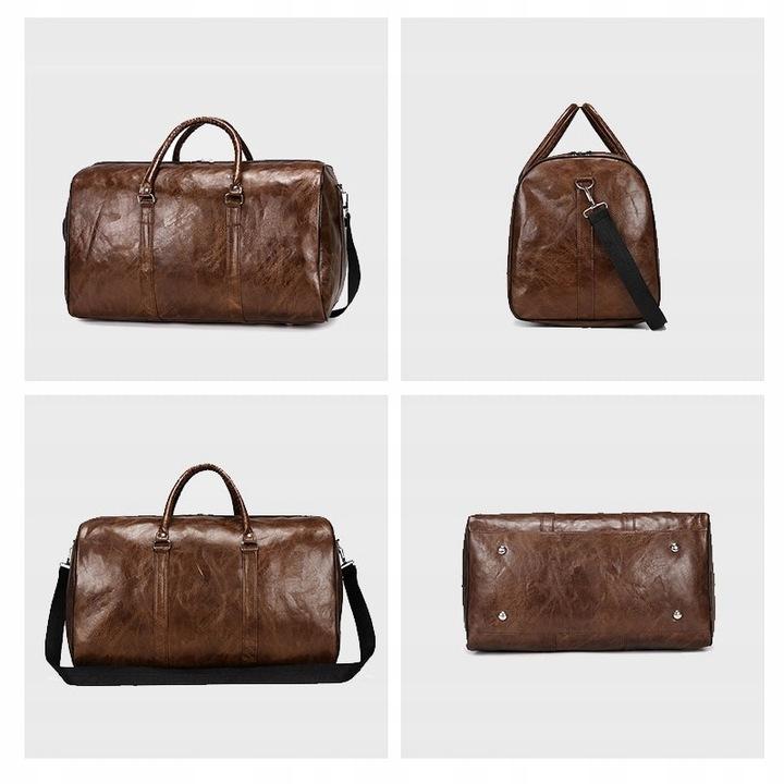 Moda Przenośna damska torba podrÓżna Pu Duża pojem 9516642398 Odzież Damska Topy VO CCLZVO-2