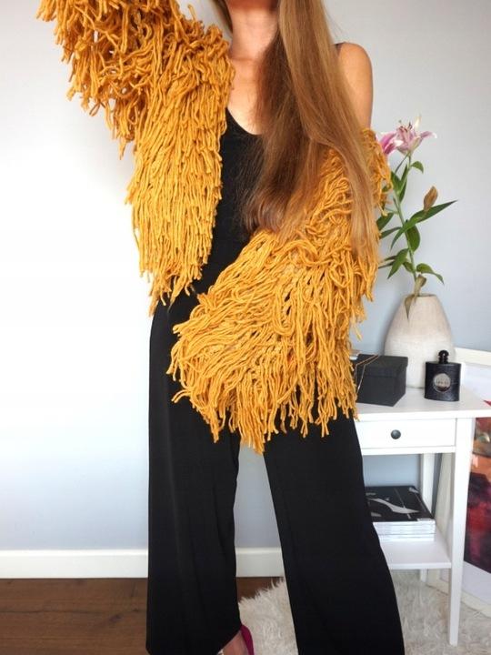 Sweter Boho Amarelo 9337930862 Odzież Damska Swetry GE KWBFGE-3