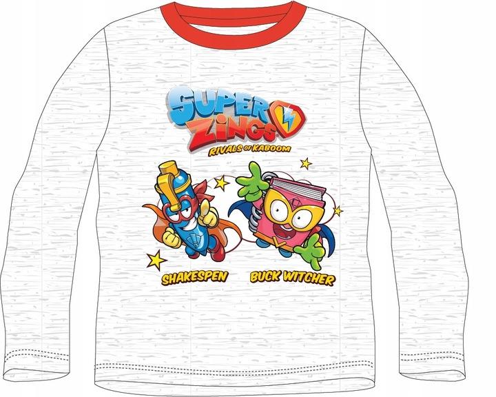 T-Shirt Chłopięcy Super Zings 128 Szary 9780331097 Dziecięce Odzież MQ COUXMQ-3