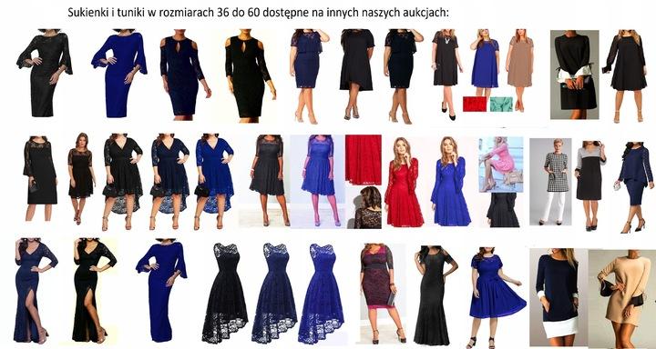 Linia Plus Size VEM KWIATY rozmiary 46 48 50 52 54 9764220136 Odzież Damska Sukienki wieczorowe QS LNKIQS-2