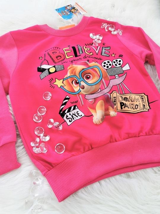 Bluzeczka PSI PATROL t-shirt bluzka bluza Skye 104 9905710610 Dziecięce Odzież KM TJJVKM-6