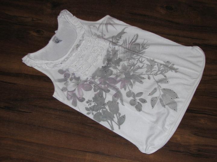 *ZARA* śliczna bluzeczka falbanki cyrkonie 140 9219094486 Dziecięce Odzież RR CEGARR-1