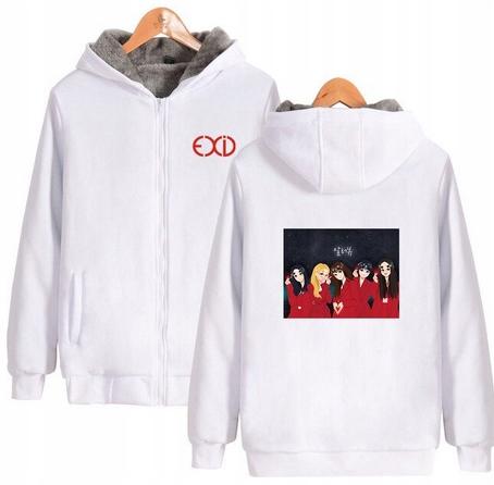 Warm blouse with EXID Hood 2019 L 40 9658458749 Odzież Damska Topy PX GCKEPX-3