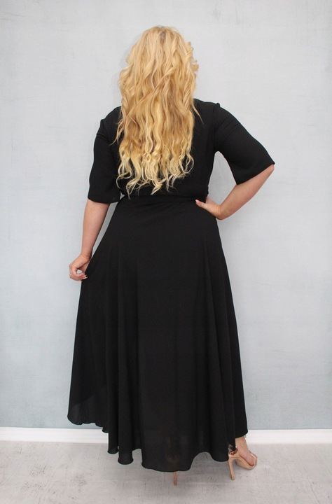 Elegancka długa wieczorowa suknia na wesele 5XL 50 9115226548 Odzież Damska Sukienki wieczorowe LP SCCRLP-6