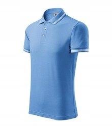 Urban koszulka polo męska - MALFINI błękitny L 9477158944 Odzież Męska Koszulki polo VI RVXOVI-1