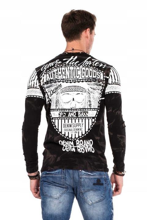 CIPO BAXX LONGSLEEVE MAZANY CL317 BLACK HATERS~XL 9553396970 Odzież Męska Koszulki z długim rękawem QF LNLWQF-8