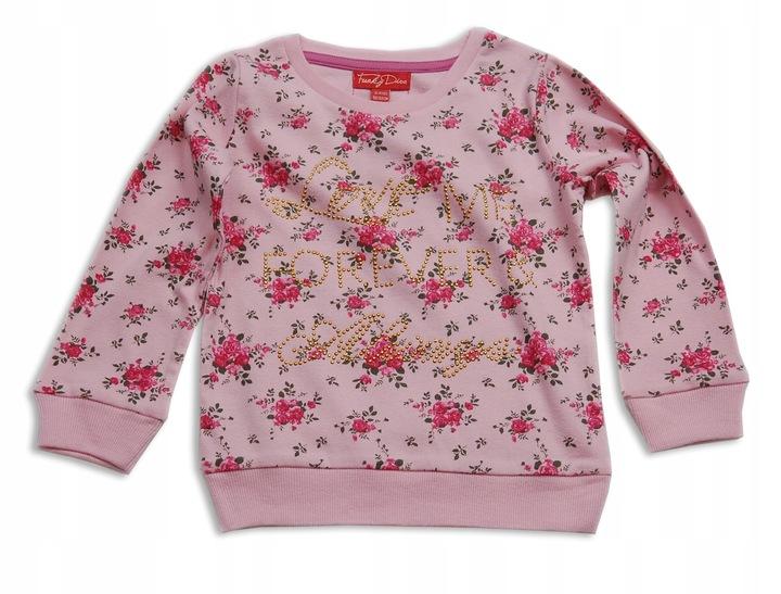 FUNKY DIVA cieplejsza BLUZKA kwiatki 98-104cm 9832414550 Dziecięce Odzież BY STUUBY-3