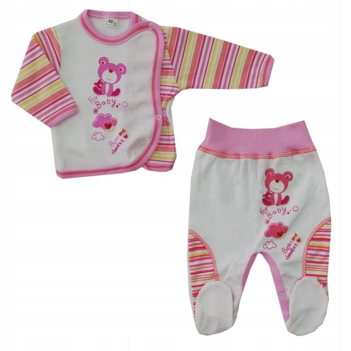 Wyprzedaż! Komplet bluzka + pÓłśpioch 62 cm Smile 9471670124 Dziecięce Odzież TJ HXMTTJ-1