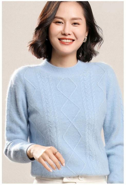 SWETER WARKOCZE KASZMIR KASZMIROWY BŁĘKITNY S 9842227962 Odzież Damska Swetry NA NMQYNA-5