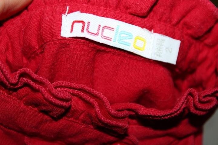 ad472*NUCLEO*Czerwona bawełna bluzka falbanki 98 9866591249 Dziecięce Odzież DU IXGIDU-4