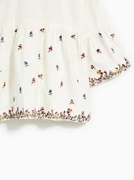 ZARA girl bluzka koszula kwiaty haft 164 cm 9928718143 Dziecięce Odzież XN NQMFXN-1