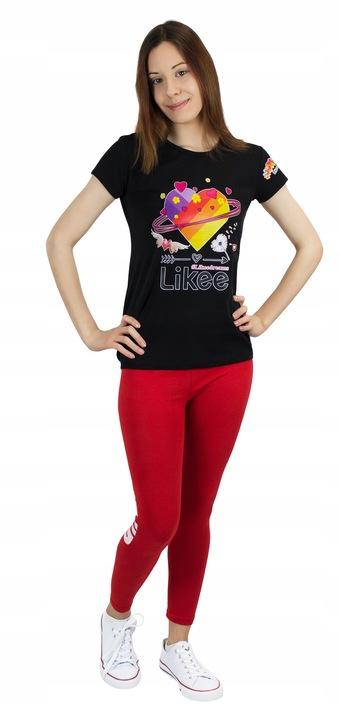 Dziecięcy T-shirt Nadruk Likee Serce na WF 128 cm 9670664310 Dziecięce Odzież LF YVIPLF-2