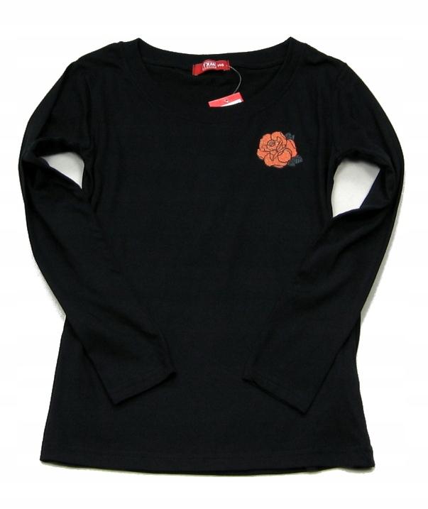 LB900 Bawełniana bluzeczka z rÓżyczką 128/134 NOWA 9406461271 Dziecięce Odzież MX VQOZMX-4