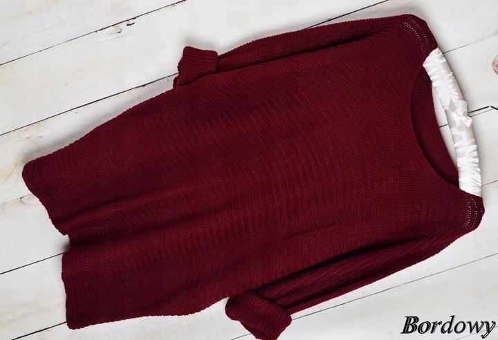 105 MIĘCIUTKI LUŹNY SWETER ODKRYTE RAMIĘ OVERSIZE 6630264118 Odzież Damska Swetry SQ XPQVSQ-5