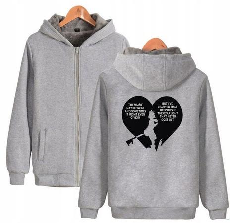 Warm Kingdom Heart Capture T-shirt with GRY Kingdo 9658456162 Odzież Damska Topy QY JXNQQY-4