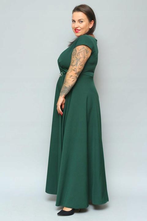 Wieczorowa sukienka na wesele Duży rozmiar 52 HIT 8578754010 Odzież Damska Sukienki wieczorowe RE KDNRRE-2