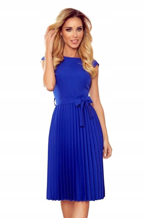 311-2 Plisowana sukienka krÓtki rękaw -CHABROWA XS 9643605423 Odzież Damska Sukienki wieczorowe BM COKYBM-8