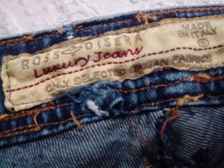 Luksusowe włoskie jeansy Rossodisera Italy jeans S 9598593105 Odzież Damska Jeansy KT JKEUKT-4