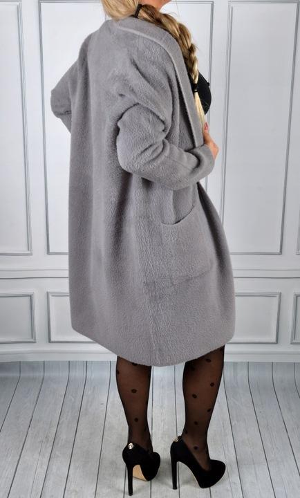 Sweter Kardigan Alpaka Miękki Długi Narzutka 9830603096 Odzież Damska Swetry AB KAOKAB-8