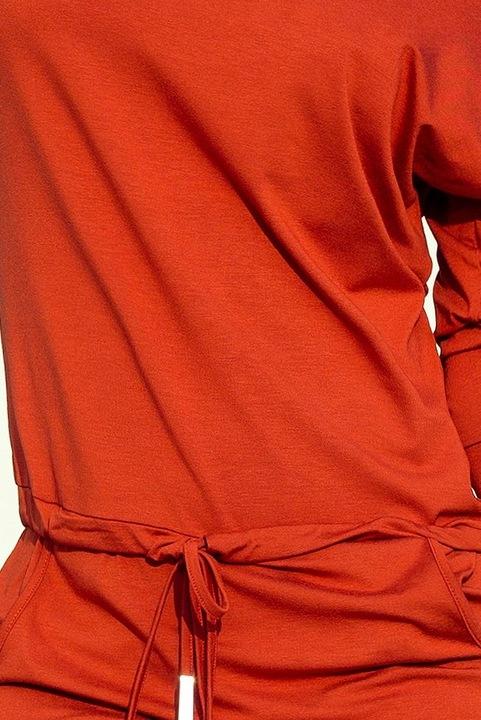 13-84 Sukienka sportowa - MIEDZIANA 9660115063 Odzież Damska Sukienki NX AFZLNX-7