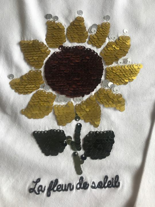 A. zara słonecznik cekiny odwracane koszulka cudna 9929261677 Dziecięce Odzież MB OQUJMB-9