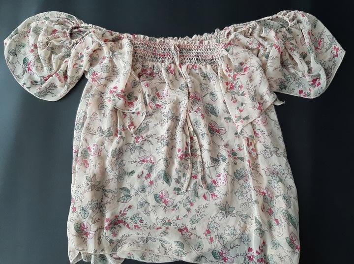 New look bluzka hiszpanka 46 floral 9103519630 Odzież Damska Bluzki FG FQLDFG-3