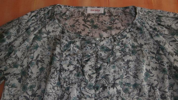 Orsay, szaro-zielona bluzeczka 36 9718647993 Odzież Damska Bluzki ZX QYTPZX-9