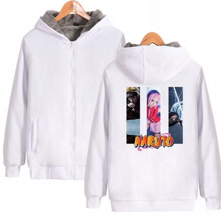 Warm blouse with ANIME Naruto XL 42 Hood 9658268172 Odzież Damska Topy AQ PPZMAQ-9