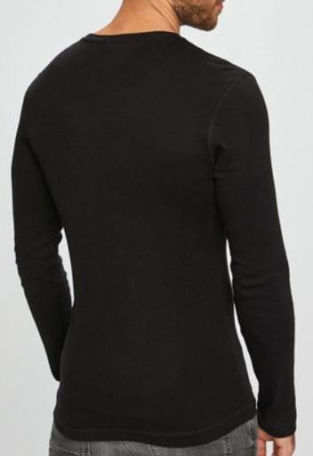 LONGSLEEVE KOSZULKA C TOMMY JEANS SLIM CZARNA S 9018716142 Odzież Męska Koszulki z długim rękawem KS LTPGKS-1