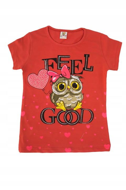 Bawełniana bluzka T-shirt 0536 rozmiar 128 9235870339 Dziecięce Odzież OV JPWYOV-3