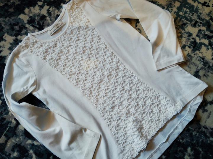 Bluzeczka Zara 116, złamana biel, stan bdb 9906265332 Dziecięce Odzież UP XFVSUP-1