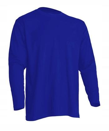 Koszulka męska z długim rękawem JHK NIEBIESKA L 9617889848 Odzież Męska Koszulki z długim rękawem EK VVLJEK-4