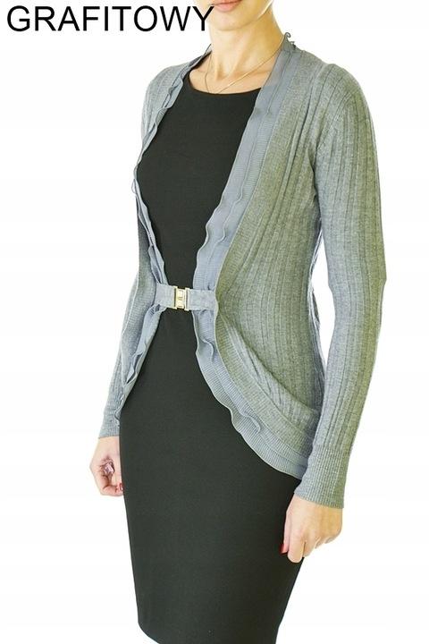 Kobiecy sweter wdzianko kardigan klamra 1089# 9625424231 Odzież Damska Swetry AM SYSMAM-7