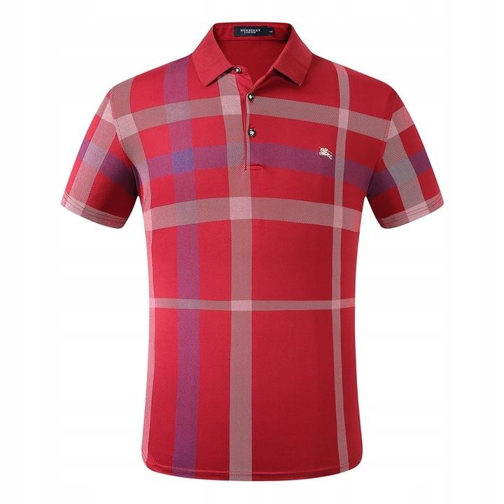 Takari plaid t-shirt lapel polo shirt men 9691097785 Odzież Męska Koszulki polo FD PSJXFD-9