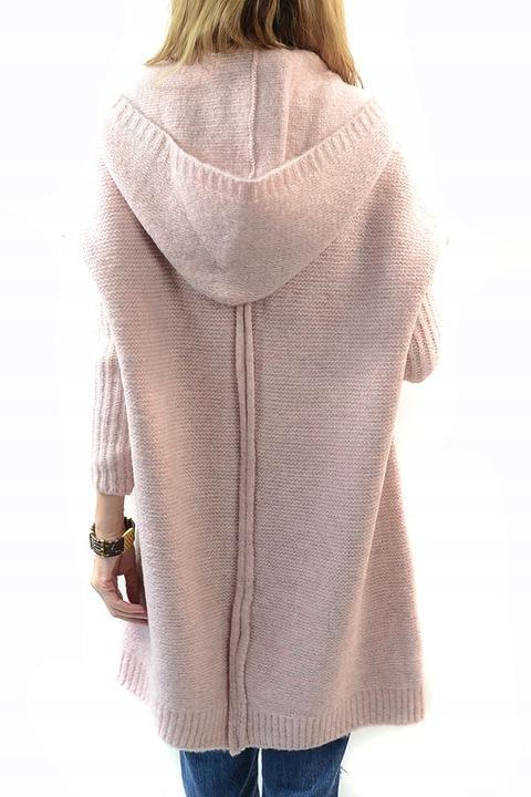 Długi Sweter ELISE Kardigan ala Płaszcz Oversize 7462698143 Odzież Damska Swetry FI NGGFFI-5