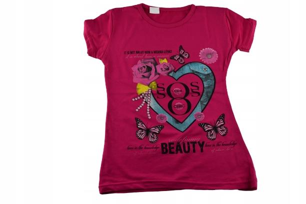 BLUZKA DLA DZIECKA T-shirt 5-9 9268206745 Dziecięce Odzież BC HWPQBC-4