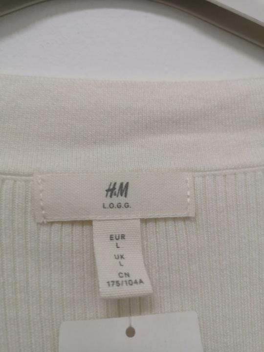 Biały Sweter H&M Rozmiar L L.O.G.G ! JAK NOWY 9199535076 Odzież Damska Swetry FZ