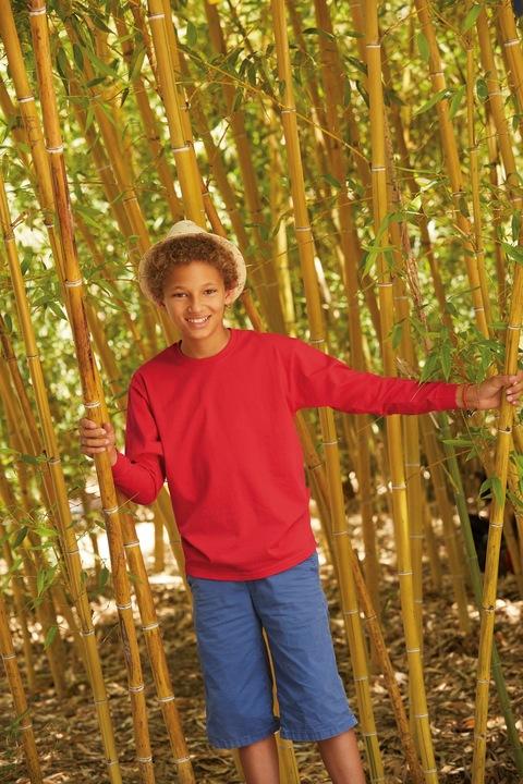 Koszulka z długim rękawem Fruit Loom Czarny 7-8 9733327448 Dziecięce Odzież YU TKMYYU-4