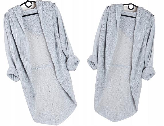 K7 KARDIGAN NARZUTKA SWETER KAPTUR kolory 6334633591 Odzież Damska Swetry UE UDQCUE-9