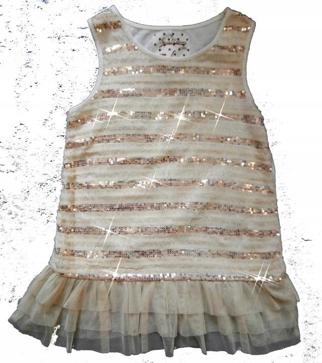 NEXT bluzka bluzeczka TUNIKA CEKINY TIUL J NOWA 9916558677 Dziecięce Odzież TT YGADTT-5
