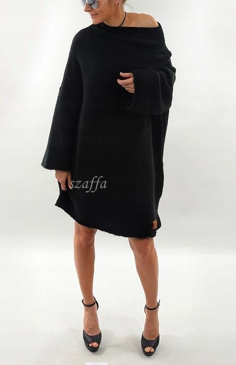 Mięsisty Sweter MONTANA Oversize 9839631288 Odzież Damska Swetry SH VUPJSH-5